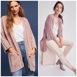 NWT Anthropologie Chenille Cardigan by Moth Nude